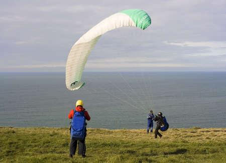 parachuting: parachuting