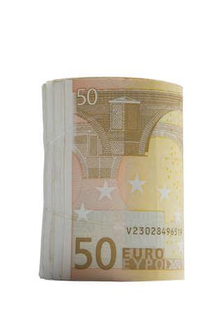 remuneraci�n: rollo de dinero  Foto de archivo
