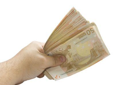 recive: give money