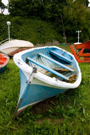 image of old sea fishing boats photo