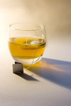 a glass with full of healthy tea Stock Photo