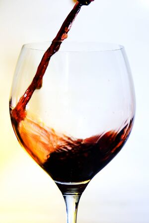 Bottle and glass cup of good wine