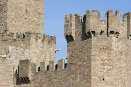 gothic build: image of the castle of Javier in Navarra, Spain