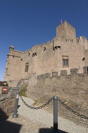 navarra: image of the castle of Javier in Navarra, Spain