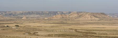 lonelyness: image of the desert of Bardenas Reales in Navarra, Spain