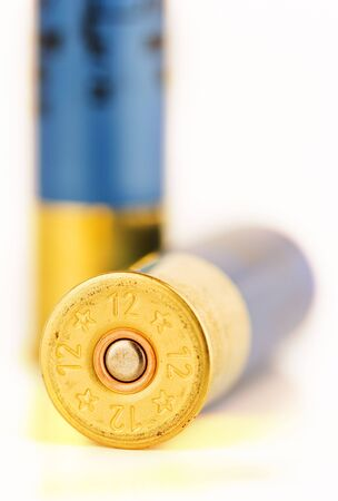 image of the ammunition of a hunting shoot gun photo
