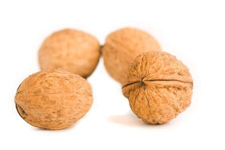 health food walnut snack on isolated background nutshell Stock Photo - 2852831