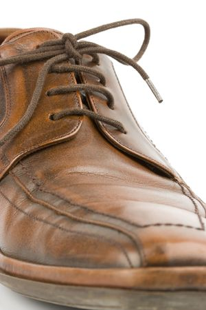 Business men luxury leather hand made shoes or brogues with shocks and tie Stock Photo - 3071758