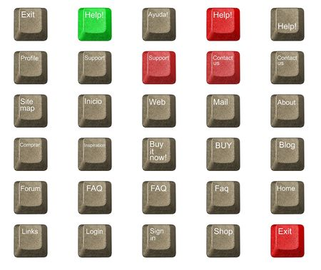 computer key in a keyboard with letter, number and symbols Stock Photo - 3181798