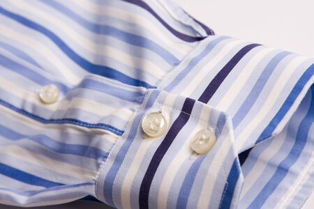 clothes business man shirt blue and white stripes photo