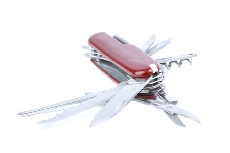 iconic pocket knife of the swiss army. lots of uses for designers Stock Photo - 3492900