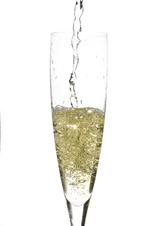 cava: close up of an isolated glass cup of champagne