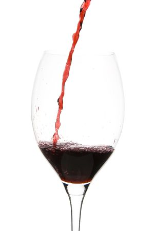 a clear glass of red wine isolated on white background Stock Photo - 3861912