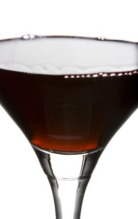 a clear glass of red wine isolated on white background Stock Photo - 3861914