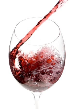 a clear glass of red wine isolated on white background Stock Photo - 3861910