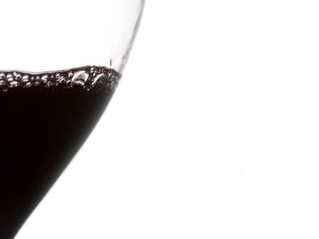 a clear glass of red wine isolated on white background Stock Photo - 3912552