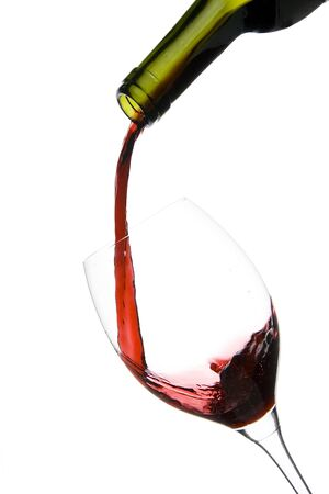 a clear glass of red wine isolated on white background Stock Photo - 3933522