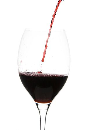 a clear glass of red wine isolated on white background Stock Photo - 3956192