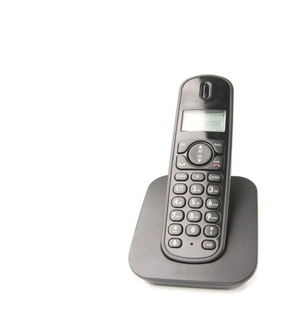 cordless phone: dect cordless phone isolated on withe background Stock Photo