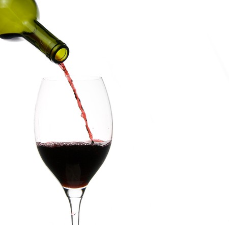 a clear glass of red wine isolated on white background Stock Photo - 4006667