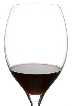 a clear glass of red wine isolated on white background Stock Photo - 4006664