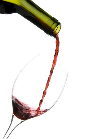 a clear glass of red wine isolated on white background Stock Photo - 4038225