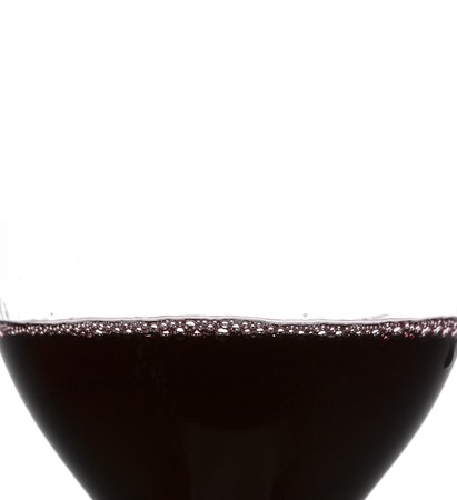 a clear glass of red wine isolated on white background Stock Photo - 4038234