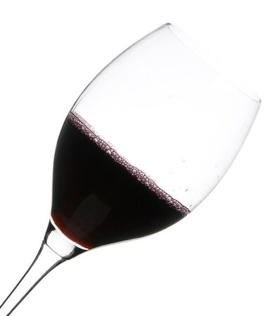a clear glass of red wine isolated on white background Stock Photo - 4070720