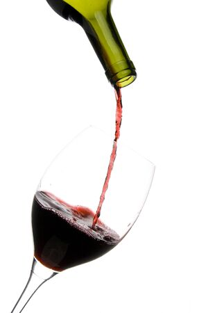 a clear glass of red wine isolated on white background Stock Photo - 4166283