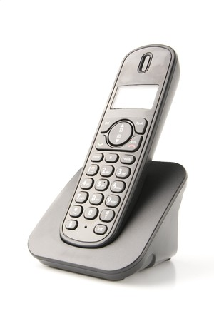 dect cordless phone isolated on withe background photo