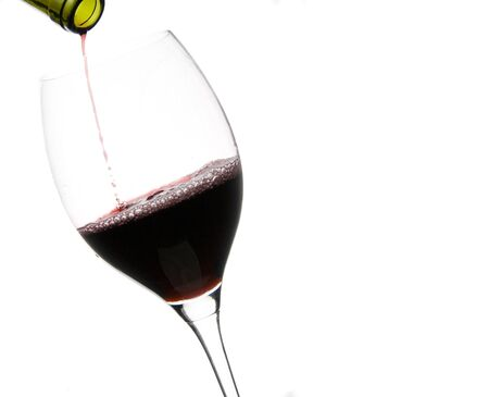 a clear glass of red wine isolated on white background Stock Photo - 4374233
