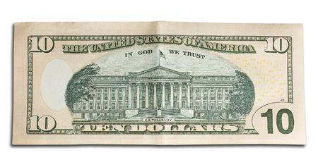 alexander hamilton: vicino di una banca nota di dieci dollari nordamericani Archivio Fotografico