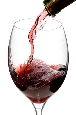 a clear glass of red wine isolated on white background Stock Photo - 4868115
