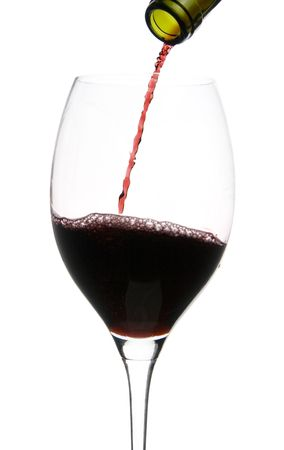 a clear glass of red wine isolated on white background Stock Photo - 5090017