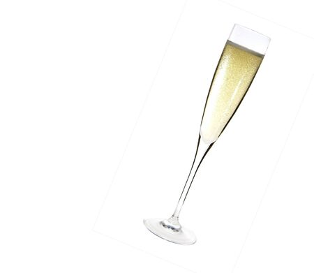 close up of an isolated glass cup of champagne photo