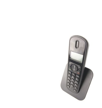 withe background: dect cordless phone isolated on withe background Stock Photo