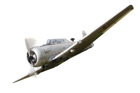 avion de chasse: Vintage avion de guerre de vieux historique dans un arri�re-plan Banque d'images