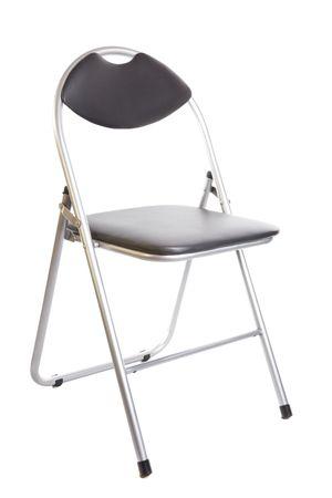 pieghevole sedia metallo nero isolata on white background