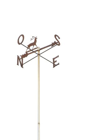 a weather vane isolated over a white background Stock Photo - 6267670