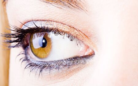close up of the eyes of a pretty young girl Stock Photo - 6845865