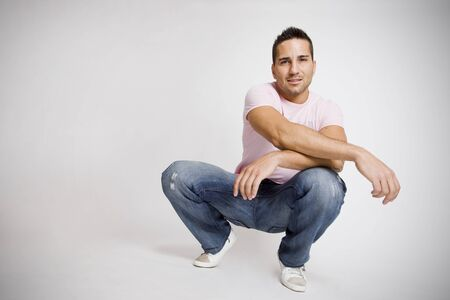 young attractive man with lots of copy space for editors photo