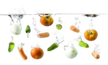 vegetables in water photo