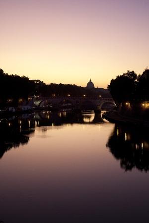 tiber: river Tiber rome landscape Stock Photo
