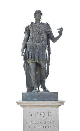 emperors: iulius caesar emperor statue Stock Photo