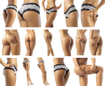 belles jambes: joli ventre de la fesse et les jambes d'une femme en forme vraiment sexy Banque d'images
