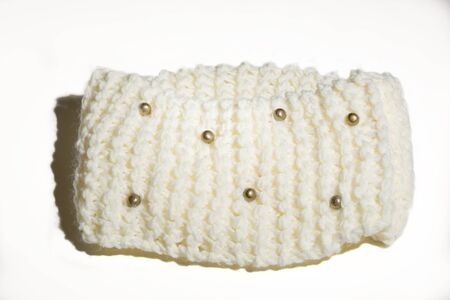 accesory: Men or women fshionable accesory handmade of wool Stock Photo