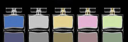 parfum: dark image of cosmetics fragrances in cristal container