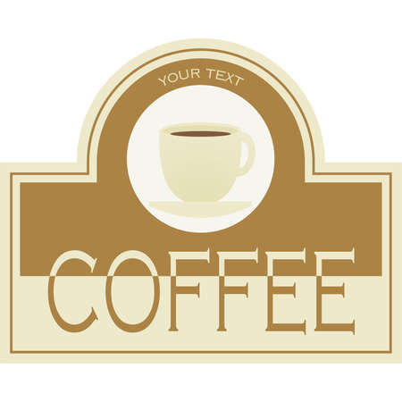 Label coffee  icon for the corporate brand or model of menu Vector