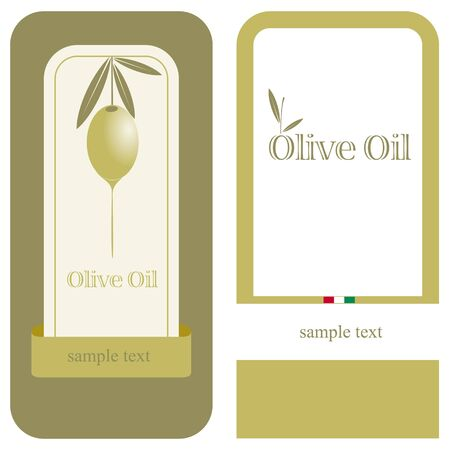 Olive oil label   icon for the corporate brand or model of menu Illustration
