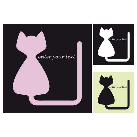 Silhouette of a cat as a symbol Vector